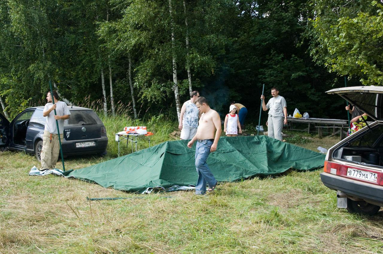 Собираем шатёр